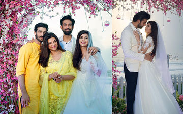 UNSEEN PICS: Sushmita Sen And Rohman Shawl Pose For A Happy Family Click With Rajeev Sen And Charu Asopa At Their Wedding