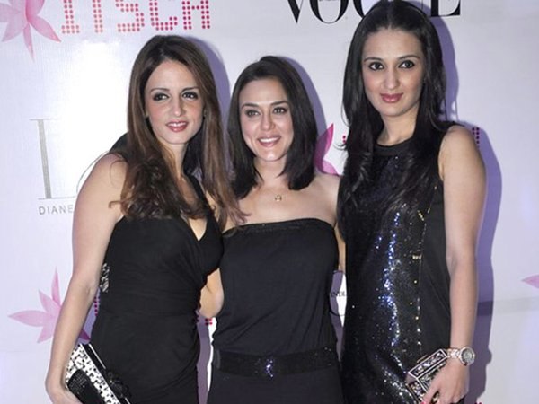sussane khan with preity zinta