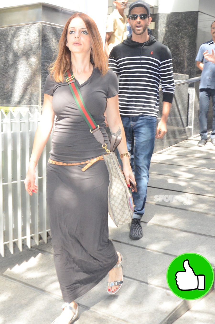sussanne khan snapped post lunch