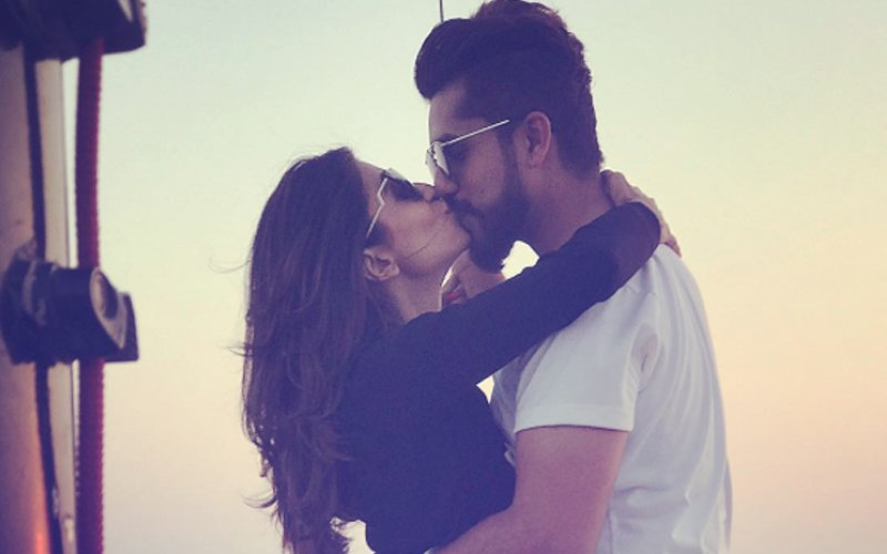 Kishwer Merchant & Hubby Suyyash Rai Share A Kiss In Public