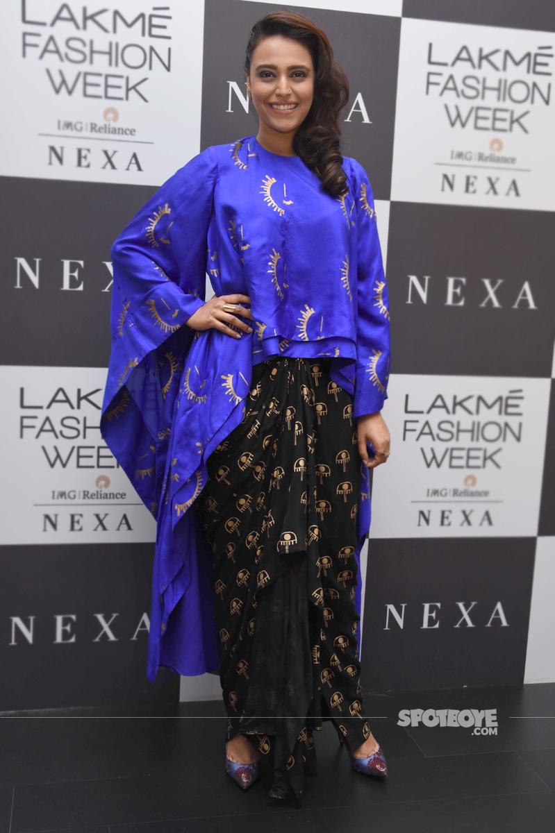 swara bhaskar at lakme fashion week 2017