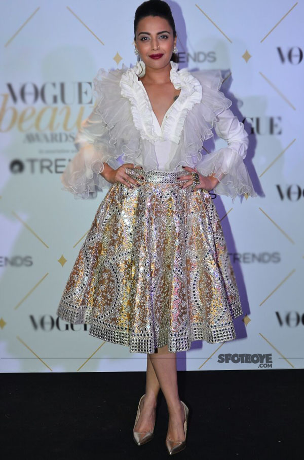 swara bhaskar at vogue beauty awards 2017