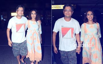 बॉयफ्रेंड के साथ हाथों में हाथ डाले मुंबई एअरपोर्ट पर नजर आयी स्वरा भास्कर