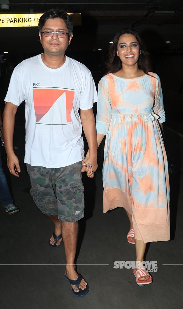 swara bhasker spotted walking hand in hand with boyfriend himanshu sharma