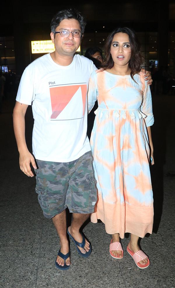 swara bhasker spotted with boyfriend himanshu sharma