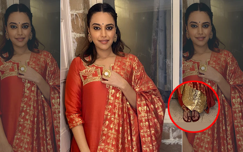 Swara Bhasker Visits Mumbai's Lalbaugcha Raja To Seek Blessing, Ends Up Losing Her Kolhapuri Chappals