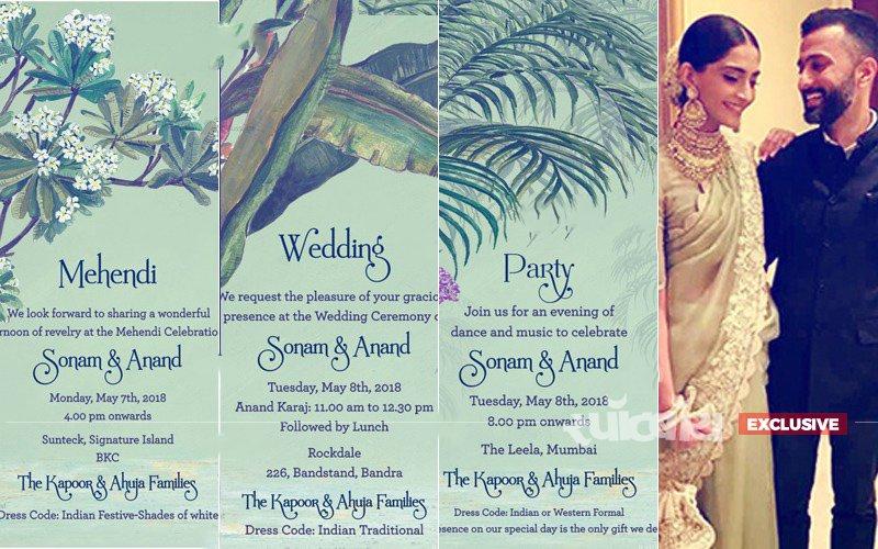 EXCLUSIVE PICS: ये हैं सोनम कपूर–आनंद आहूजा के शादी सेलिब्रेशन के इ-कार्ड्स