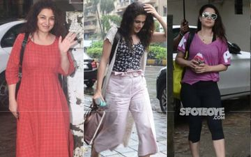 Taapsee Pannu, Ameesha Patel, Tisca Chopra Pamper Themselves At A Salon On A Rainy Day