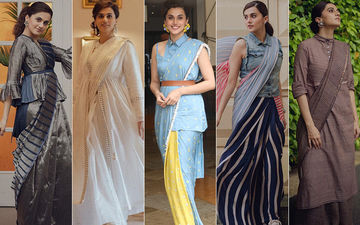 Taapsee Pannu's Saree Style Game: 12 Times Mission Mangal Actress Gave A Twist To Her Unconventional Sarees