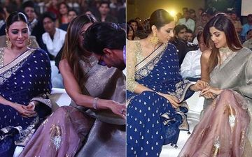 Throwback: When Tabu Couldn't Stop Admiring Shilpa Shetty's Sparkling Rings At Umang Festival