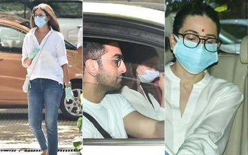 Rishi Kapoor Terahvi: Ranbir Kapoor-Alia Bhatt, Karisma Kapoor, Shweta Bachchan, Navya Nanda Reach To Offer Prayers