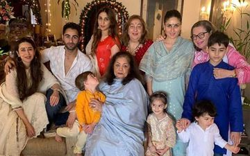 Kareena Kapoor Khan, Karisma Kapoor And The Other Kapoors Celebrate Ganesh Chaturthi; Taimur-Yash-Roohi Steal The Show