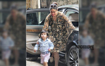 Taimur Ali Khan Holds On To His Toys As Mommy Kareena Kapoor Khan Accompanies Him