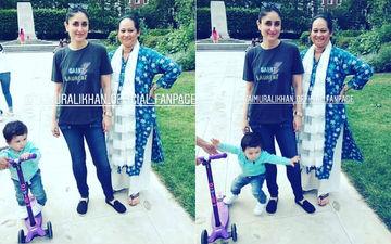 Oops! Taimur Stumbles As Mom Kareena Kapoor Gets A Picture Clicked