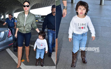 Kareena Kapoor Khan's Son Taimur Wears A Rs 400 T-Shirt But The Price Of His Cowboy Boots Have Several More Zeroes Attached