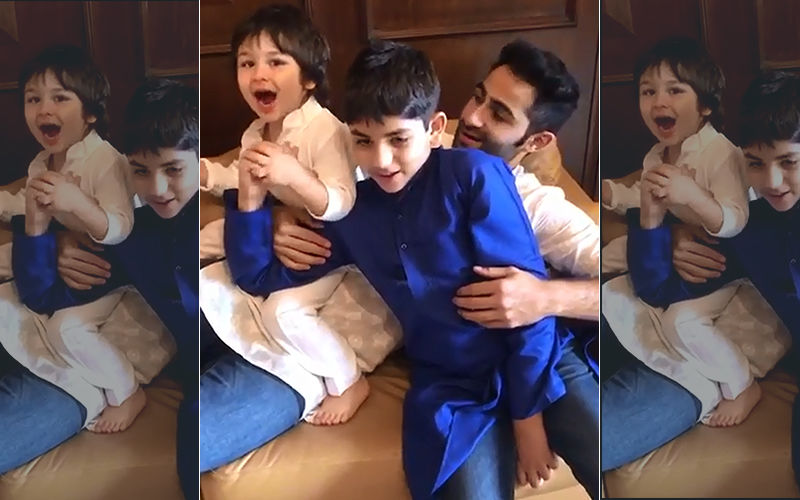 Taimur Ali Khan Chanting 'Mangal Murti Morya' With Joy Is The Most Adorable Video You Will See On The Internet Today