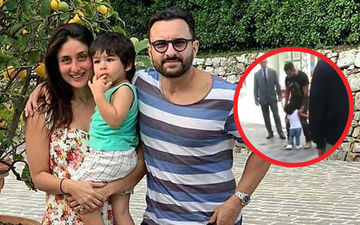 Taimur Gets Cranky As He Wants Daddy Saif To Carry Him On The Sets Of Jawaani Jaaneman – Watch Viral Video