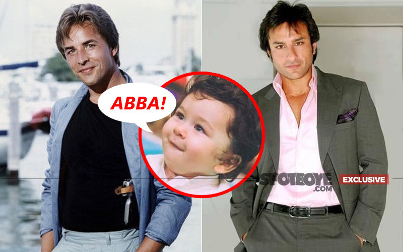 Taimur Mistook Don Johnson As Saif Ali Khan And Called Him 'Abba'!
