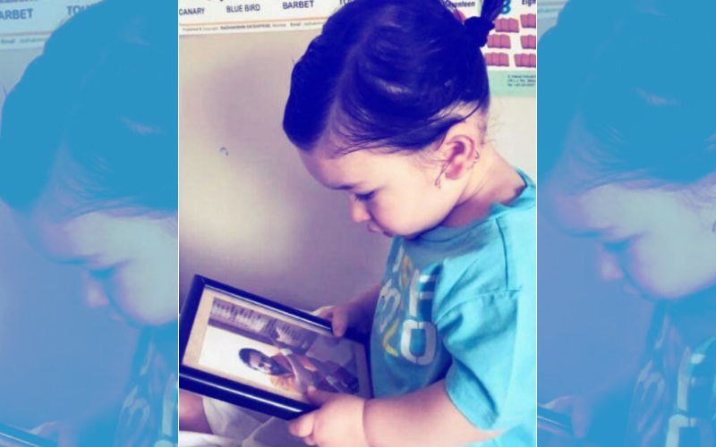 CUTENESS OVERLOAD: Taimur Ali Khan Staring At Papa Saif's Picture Will Melt Your Heart