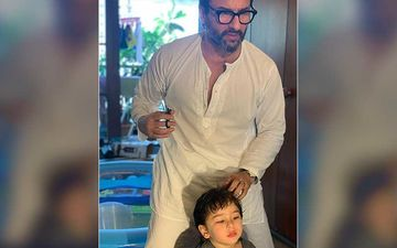 And AGAIN, Taimur Ali Khan Makes An Adorable Guest Appearance While Saif Ali Khan Gives An Online Interview – VIDEO