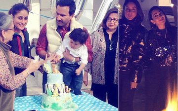 Taimur's 1st Birthday: Kareena & Saif Enjoy A Quiet Bonfire Get-Together With Family