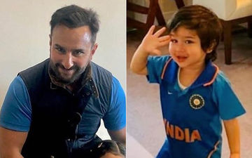 Taimur And Saif Ali Khan Enjoy The India Vs Pakistan World Cup 2019 Match- Videos Inside