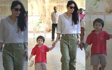 Taimur Flaunts His Drawing As Mommy Kareena Kapoor Khan Picks Him Up From School
