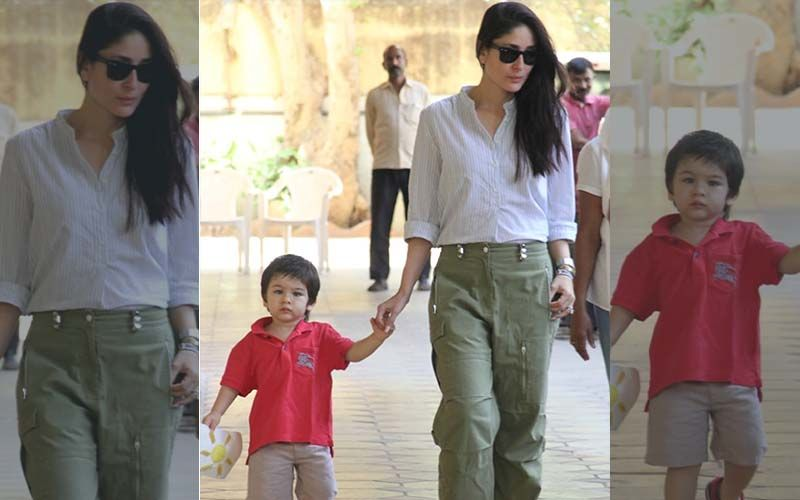 Taimur Flaunts His Drawing As Mommy Kareena Kapoor Khan Picks Him Up From School