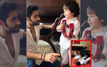 Taimur Does Bicycle Crunches With Mama Armaan Jain; But Who Wins? – Watch Video