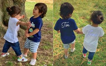 छोटी बहन इनाया खेमू का हाथ पकड़ कर घूमते दिखें तैमूर अली खान, सोशल मीडिया पर तस्वीरें हुई वायरल