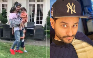Inaaya-Kainaat Take A Joyride In Kunal Kemmu's Arms, Taimur Latches On To His Legs - Get Your Fix Of Happy Hormones This Tuesday Morning - Watch Video