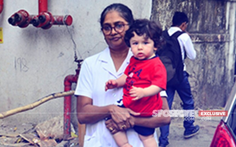 7 PICS From Little Man Taimur Ali Khan's Evening Stroll