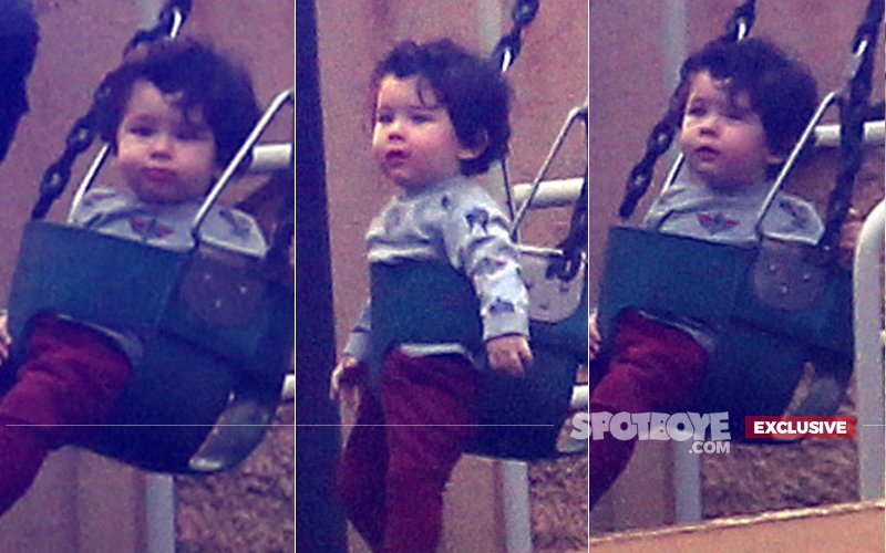 7 PICS Of Little Heartbreaker Taimur Ali Khan Playing In The Park