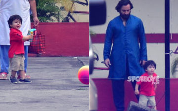 Taimur Ali Khan Plays Football With Daddy Dearest, Saif Ali Khan