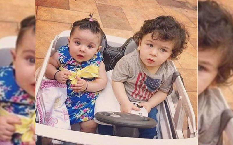 Cousins Taimur Ali Khan And Inaaya Are Lost In Their Little World; Spotted Strolling Hand-In-Hand In London