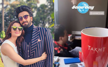 Takht: Alia Bhatt Preps For The Film; A Glimpse Of Her Brainstorming Session With KJo And Ranveer Singh