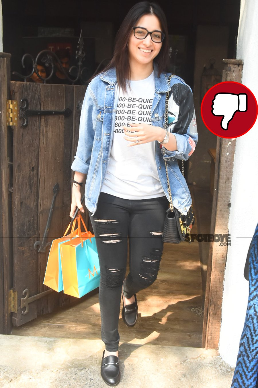 tamannaah bhatia snapped post salon session