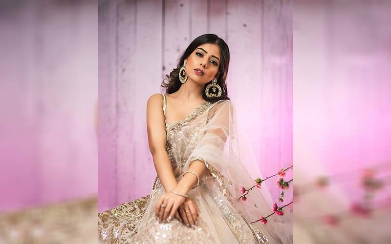 Tania Looks Like A Princess In A Peach Saree, Shares Pictures On Insta