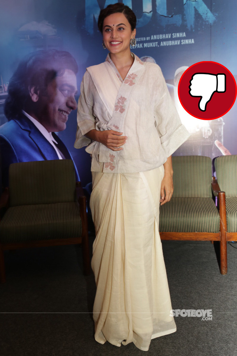 tapsee pannu promotes her upcoming movie mulk
