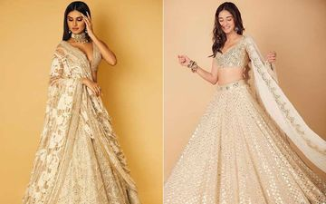 Ananya Panday Or Tara Sutaria? Which Hottie Werked The Mirror-Work Lehenga With Sexy AF Choli Better?