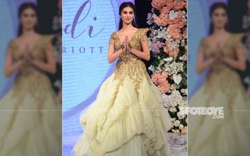 Tara Sutaria Stops The Show For Shantanu-Nikhil, Makes Heads Turn In A Super Plunging Glitter-Adorned Neckline
