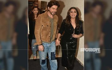 Shah Rukh Khan Tightly Holds On To Gauri Khan's Hand; Hosts And Entertains Wifey's Friends At Her Store