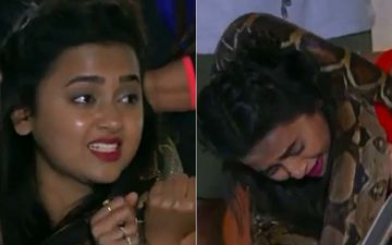 KKK 10: After Being On Rohit Shetty's Radar Post 'Peon Controversy', Tejasswi Prakash Left Breathless As A Python Clings To Her - VIDEO
