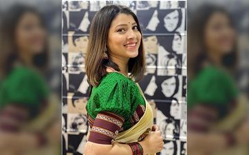 Tejaswini Pandit Goes Traditional And Makes Her Mom's Saree Look Like A Fashion Statement