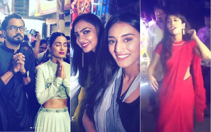 Hina Khan And Erica Fernandes Visit Lalbaugcha Raja; Shivangi Joshi's Energetic Dance At Her Ganpati Visarjan