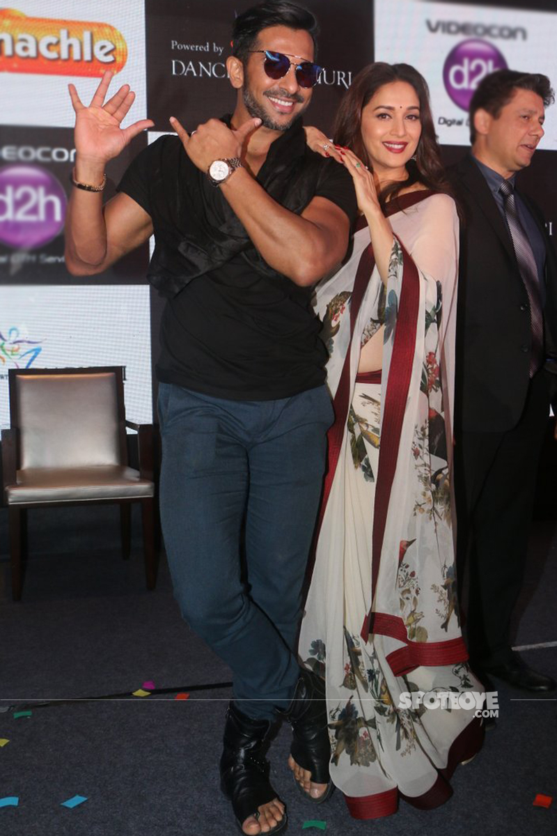 terence lewis madhuri dixit dance with madhuri show launch