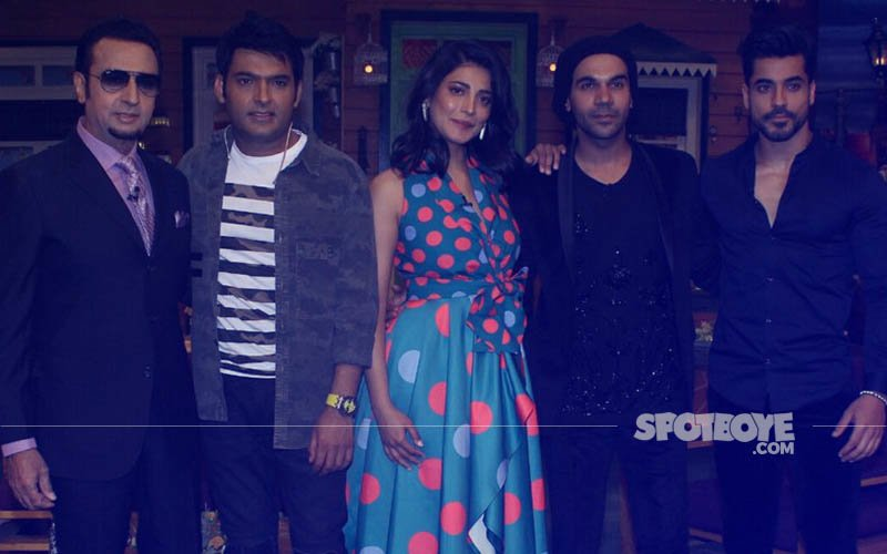 Rajkummar Rao, Shruti Haasan, Gautam Gulati On The Sets Of The Kapil Sharma Show