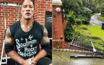 WWE Star Dwayne The Rock Johnson Rips Off His Jammed Front Gate All By Himself; Just Like His Crew We Too Are Is Disbelief – WATCH VIDEO