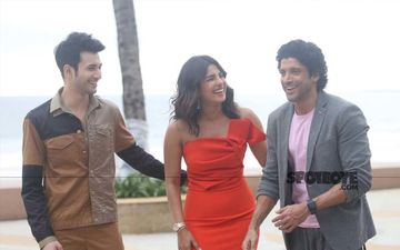 The Sky Is Pink: Priyanka Chopra In Bright Red, Farhan Akhtar In Pink Continue With The Film Promotions