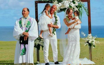 Dwayne Johnson Aka The Rock Shares Adorable Pictures With Kids Calling Them 'The Real Stars Of Their Wedding'